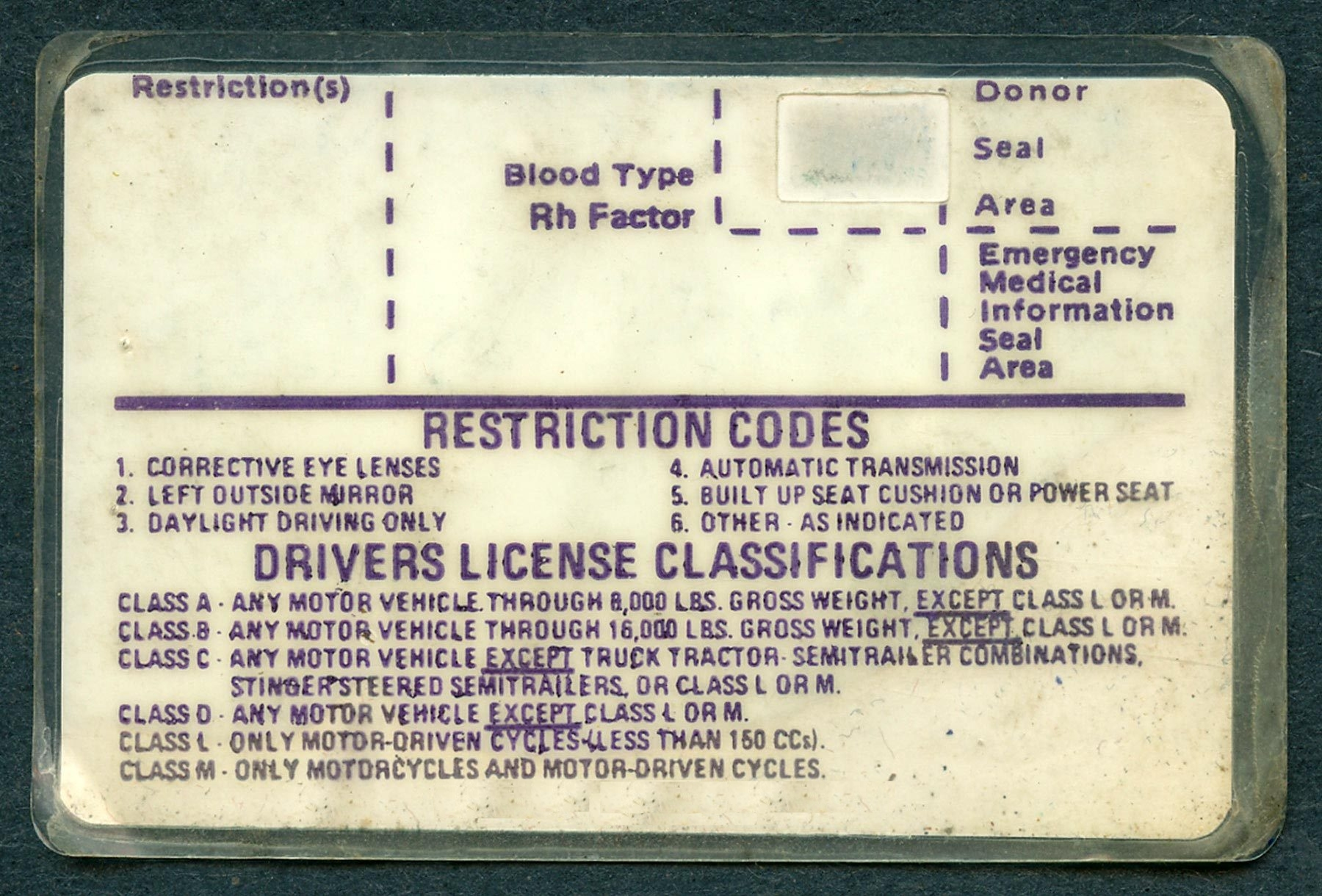 70s early 80s era illinois driver license scan help. Black Bedroom Furniture Sets. Home Design Ideas